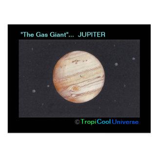 Cartão de JUPITER do planeta
