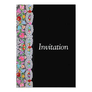Cartão de Kalocsai Convite 12.7 X 17.78cm