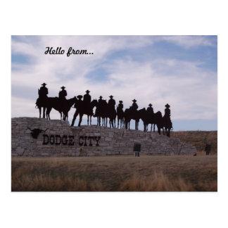 cartão de kansas da cidade do rodeio