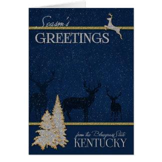 Cartão de Kentucky o Natal do estado do Bluegrass