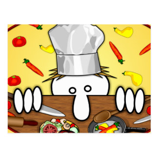Cartão de Kilroy do cozinheiro chefe