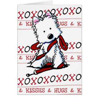 Cartão de KiniArt Westie XOXO