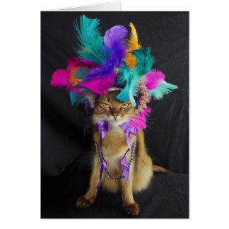 Cartão de Kitteh do carnaval, envelope incluído
