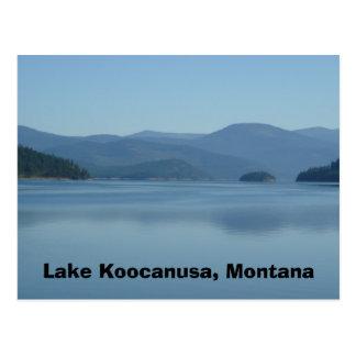 Cartão de Koocanusa Montana do lago
