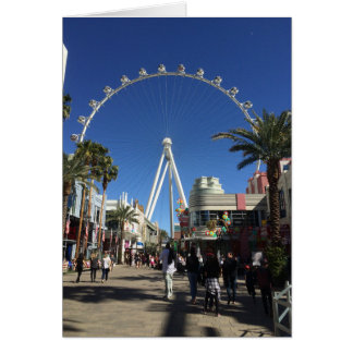 Cartão de Las Vegas da roda de Ferris do rolo alto