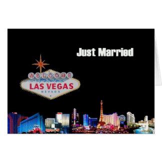 Cartão de Las Vegas do recem casados