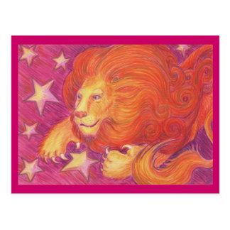 Cartão de Leo do zodíaco