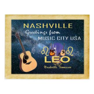 Cartão de Leo do zodíaco de Nashville
