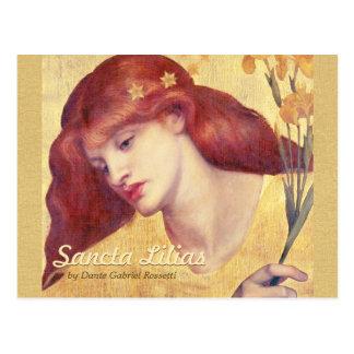 Cartão de Lilias CC0657 dos santuários de Rossetti