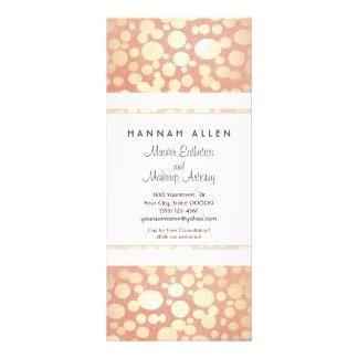 Cartão de linho da cremalheira do olhar dos círcul planfetos informativos coloridos