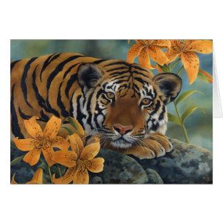 """Cartão De """"lírio tigre """""""