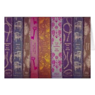 Cartão de livros de Jane Austen