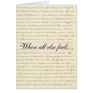 Cartão de Lizzie Bennet do orgulho e do