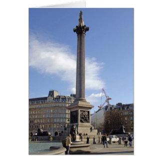 Cartão de Londres da coluna de Nelson