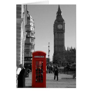 Cartão de Londres da torre de pulso de disparo de
