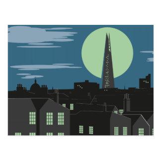 Cartão de Londres do estilo do art deco