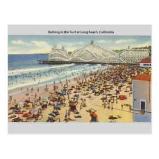 Cartão de Long Beach Califórnia do vintage