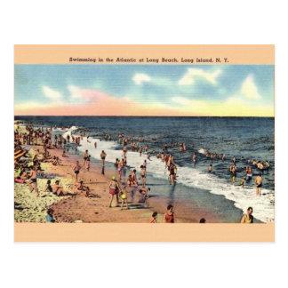 Cartão de Long Beach Long Island New York do
