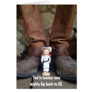 Cartão de Longhorn Annie - adeus