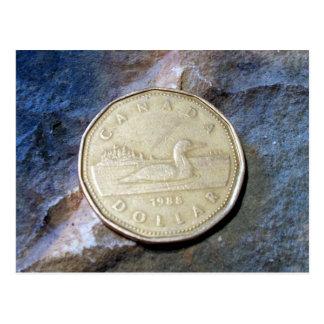 Cartão de Loonie de 1988 canadenses