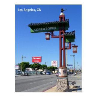 Cartão de Los Angeles Koreatown!