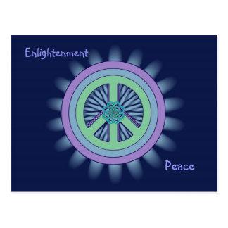 Cartão de Lotus da paz & da iluminação Cartão Postal