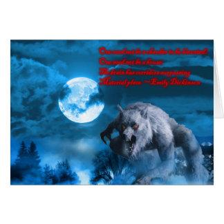 Cartão de Lycan o Dia das Bruxas