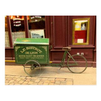Cartão de Lyon, France. Bicicleta, ruas do godo