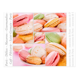 Cartão de Macarons do francês Cartão Postal