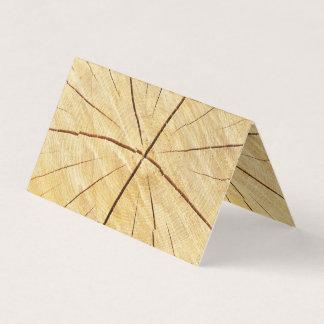 Cartão de madeira brilhante do dobro do negócio do