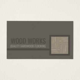 Cartão de madeira do azulejo do serviço do