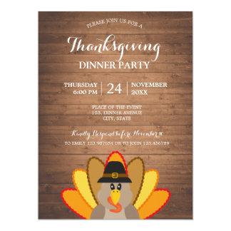 Cartão de madeira do convite de Turquia do