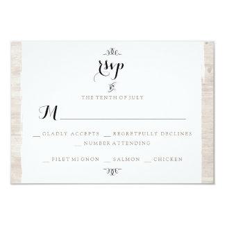 Cartão de madeira rústico do convite do chique