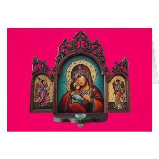 Cartão de Madonna Tryptich