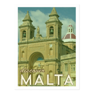 Cartão de Malta do vintage