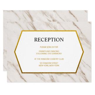 Cartão | de mármore moderno da recepção de