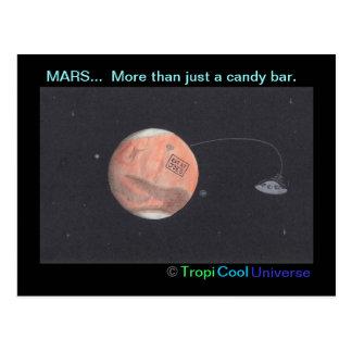 Cartão de MARTE do planeta