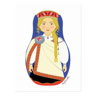Cartão de Matryoshka do Latvian