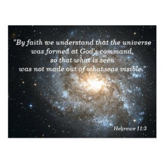 Cartão de memória cristão da escritura do 11:3 dos