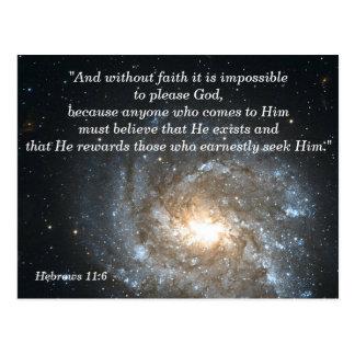 Cartão de memória cristão da escritura do 11:6 dos
