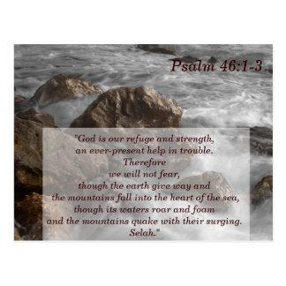 Cartão de memória da escritura 1-3 do salmo 46