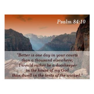 Cartão de memória da escritura do 84:10 do salmo