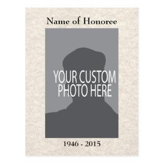 Cartão de memórias da cerimonia comemorativa com