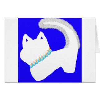 Cartão de Menorah Hanukkah da manhã com gato
