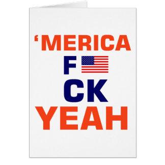 Cartão De Merica camiseta yeah