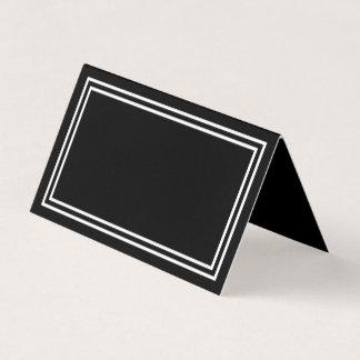 Cartão De Mesa Adicione seu preto do texto com beiras brancas