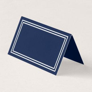 Cartão De Mesa Adicione seus azuis marinhos do texto com beiras