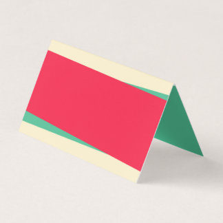 Cartão De Mesa Adicione sua própria Sandy verde do texto e clara