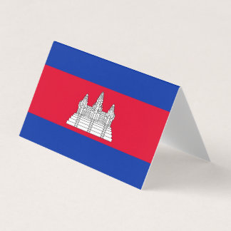 Cartão De Mesa Bandeira de Cambodia
