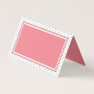 Cartão De Mesa Bolinhas cor-de-rosa e azuis